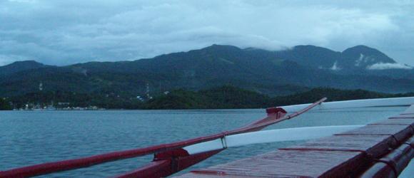 Mindoro banka boat view